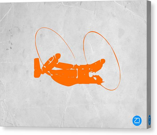 Airplanes Canvas Print - Orange Plane by Naxart Studio