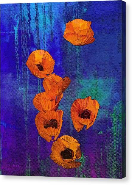 Orange Poppies Canvas Print