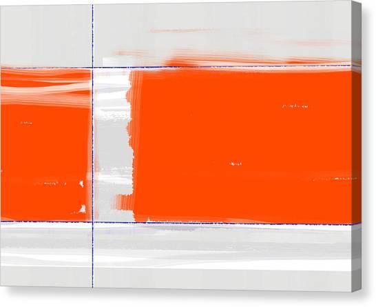 Tasteful Canvas Print - Orange Rectangle by Naxart Studio
