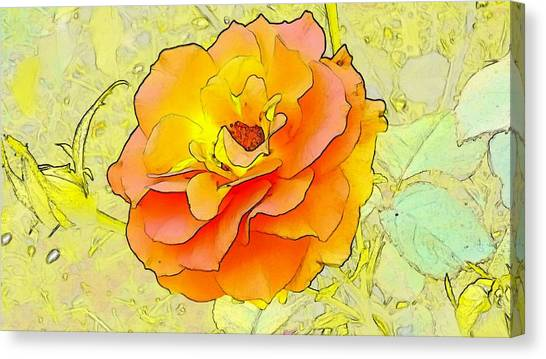 Canvas Print - Orange Rose by Kumiko Izumi