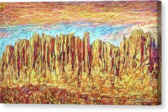 Orange Sky Cliffs - Colorado Canvas Print