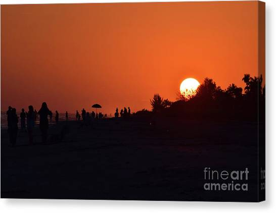 Fire Ball Canvas Print - Orange Sky by Patti Whitten