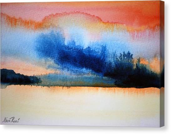 Orange Solitude Canvas Print by Neva Rossi
