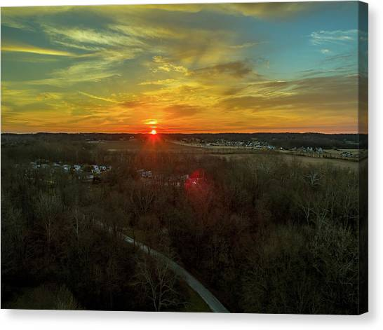 Orange Sunrise Canvas Print