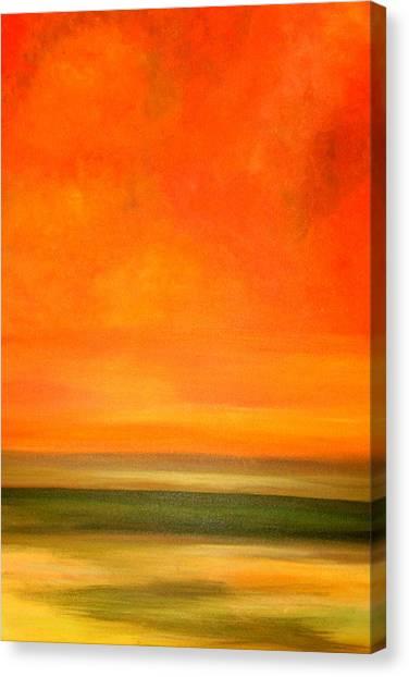 Orange Sunset Canvas Print by Marcia Crispino