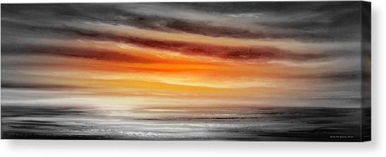 Orange Sunset - Panoramic Canvas Print