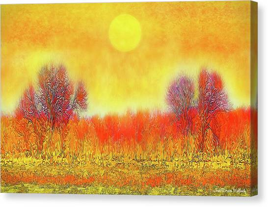 Orange Sunset Shimmer - Field In Boulder County Colorado Canvas Print