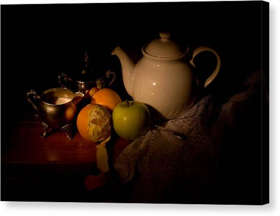 Orange Tea Canvas Print