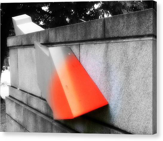 Orange Tipped Arrow Canvas Print
