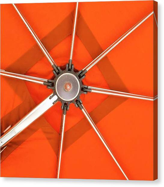 Orange Canvas Print - Orange Umbrella #photography by Juan Silva