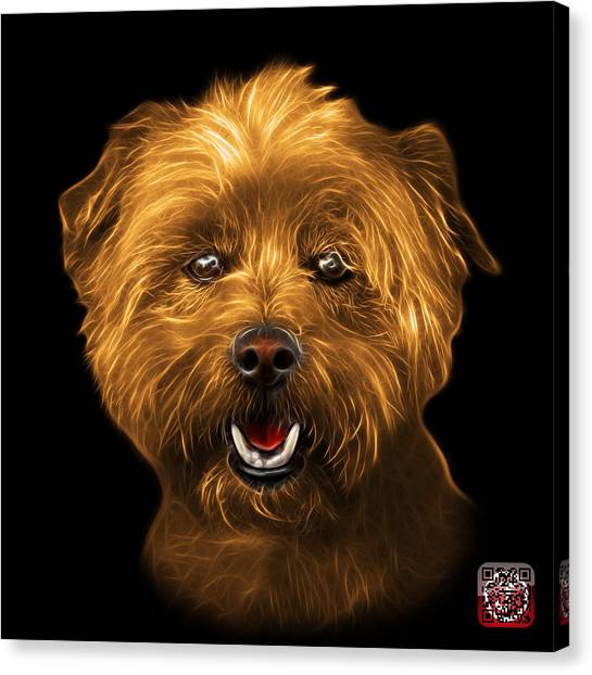 Canvas Print featuring the mixed media Orange West Highland Terrier Mix - 8674 - Bb by James Ahn