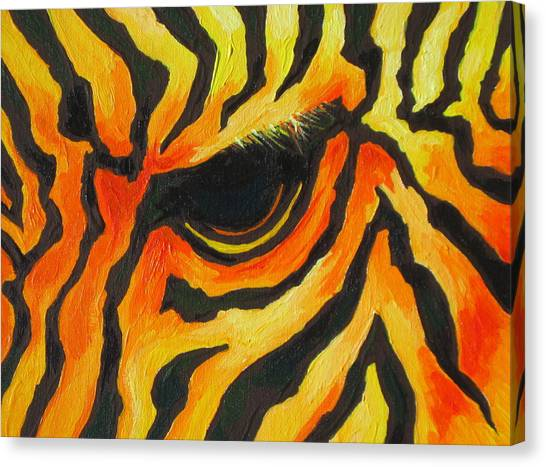 Orange Zebra Canvas Print