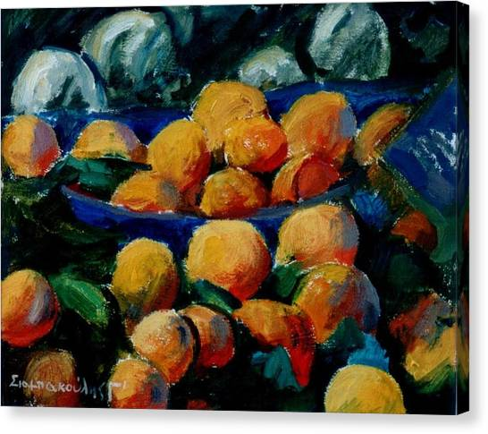 Oranges Canvas Print by George Siaba