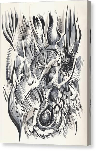 Canvas Print featuring the drawing Orbit by Keith A Link