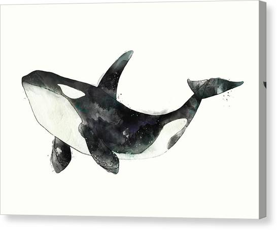 Orcas Canvas Print - Orca From Arctic And Antarctic Chart by Amy Hamilton