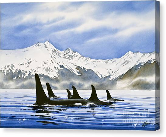 Blue Whales Canvas Print - Orca by James Williamson