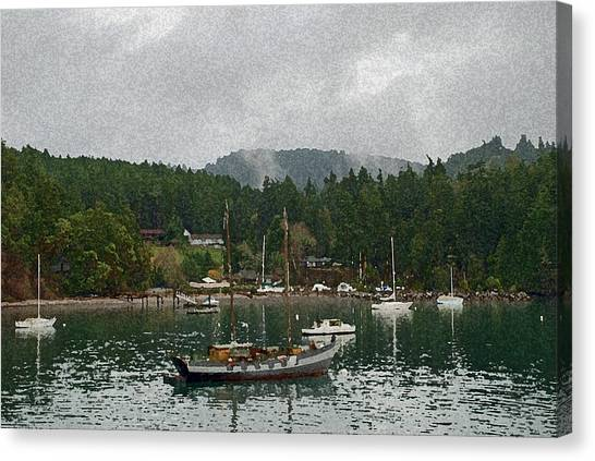 Orcas Island Digital Enhancement Canvas Print