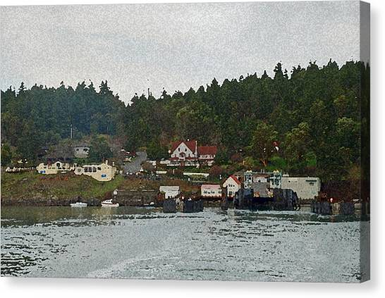 Orcas Island Dock Digital Canvas Print