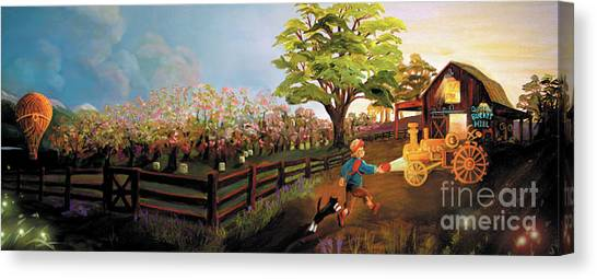 Orchard And Barn Canvas Print
