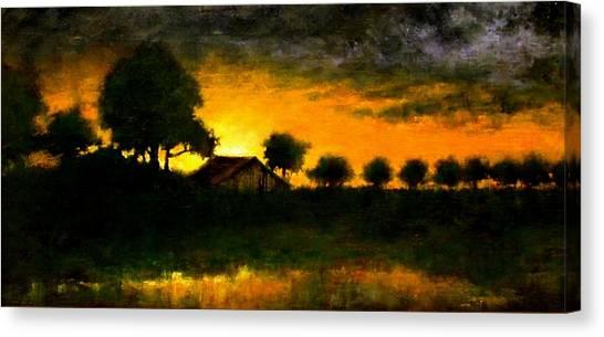 Canvas Print - Orchard Sundown by Jim Gola