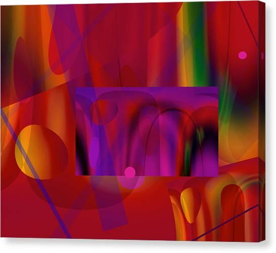 Orchestration 9 Canvas Print by Lynda Lehmann