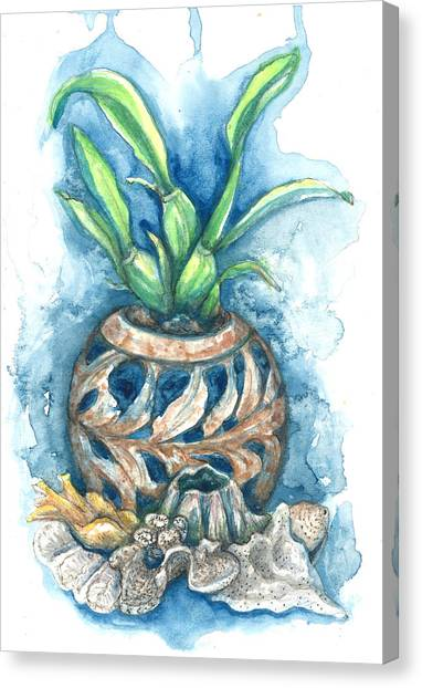 Orchid And Barnacle Canvas Print