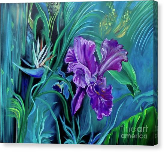 Orchid Jungle Canvas Print