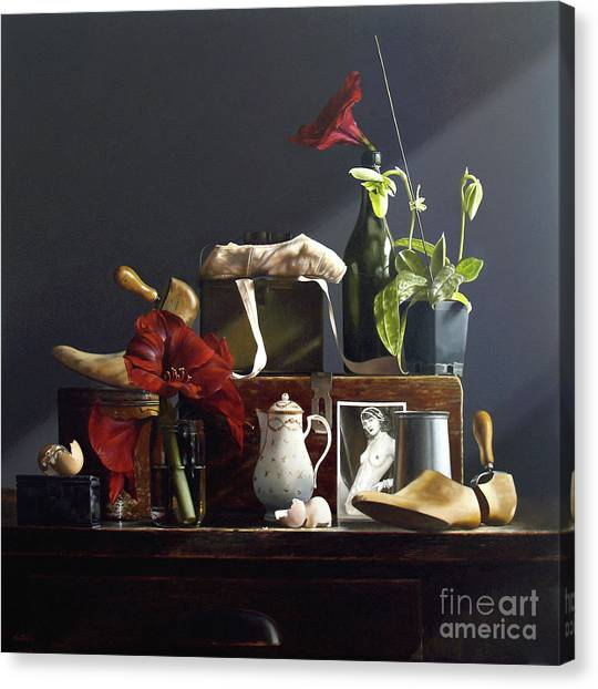Amaryllis Canvas Print - Orchid by Lawrence Preston