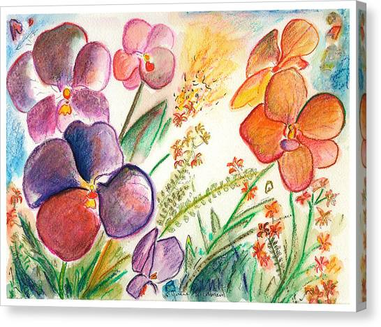 Orchid No. 12 Canvas Print by Julie Richman