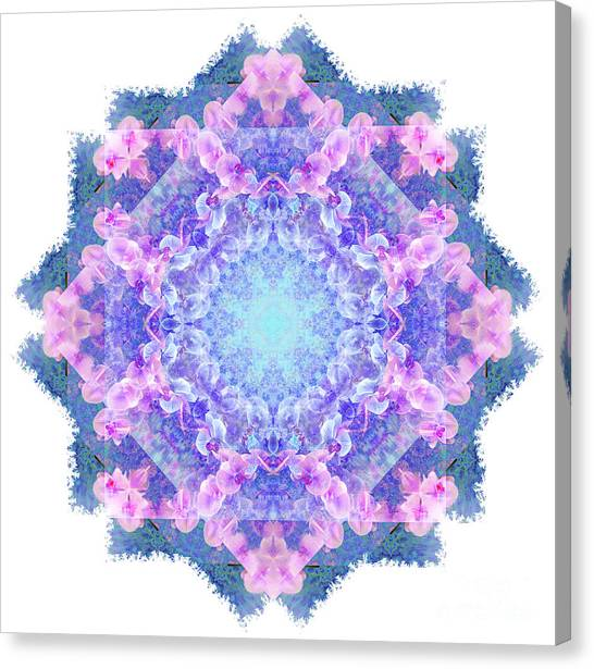 Orchids Mandala Canvas Print