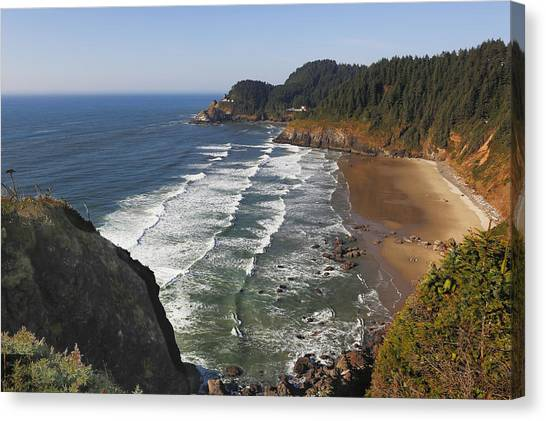 Canvas Print featuring the photograph Oregon Coast No 1 by Belinda Greb