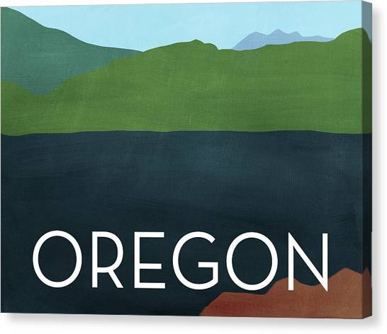 Oregon Canvas Print - Oregon Landscape- Art By Linda Woods by Linda Woods