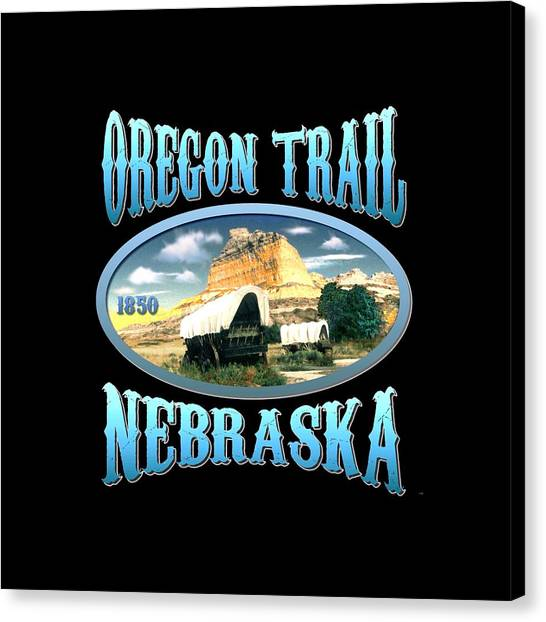 Pioneers Canvas Print - Oregon Trail Nebraska History Design by Art America Gallery Peter Potter