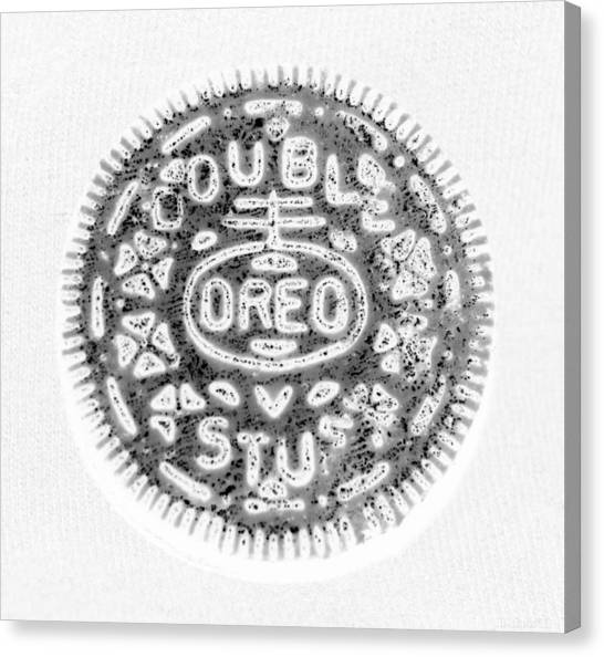 Nabisco Canvas Print - Oreo In Negetive by Rob Hans