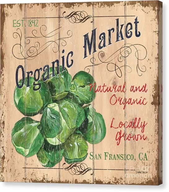 Local Food Canvas Print - Organic Market by Debbie DeWitt