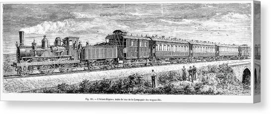Train Conductor Canvas Print - Orient Express Train by Granger
