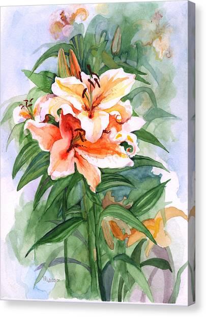 Oriental Lilies Canvas Print