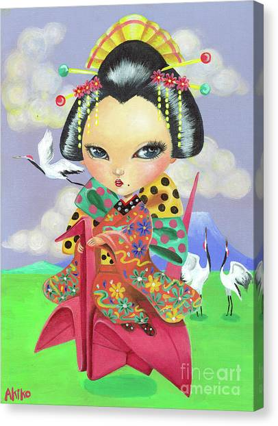 Origami Girl Canvas Print