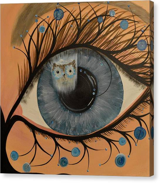 Original Acrylic Artwork By Mimi Stirn - Hoomasters Collection Hoodali #412 Mimi's Self Portrait Canvas Print