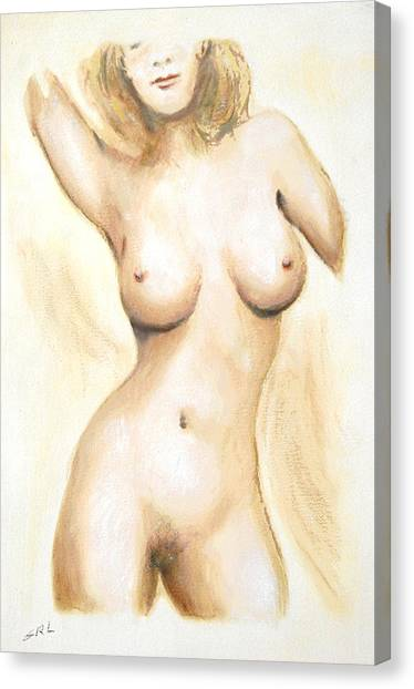 Original Painting Of A Nude Female Torso Canvas Print