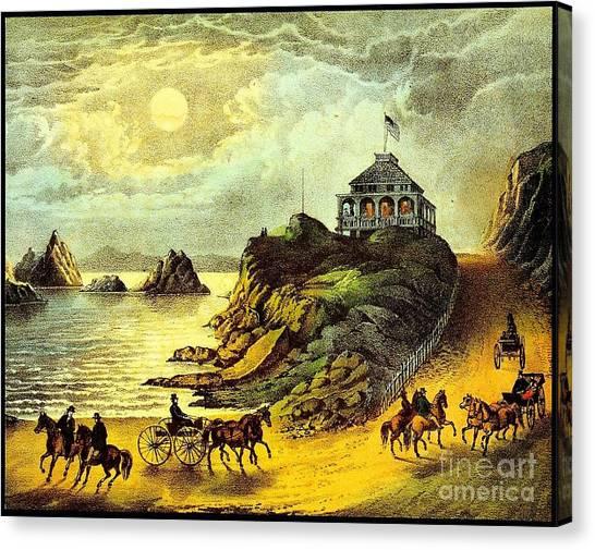 Original San Francisco Cliff House Circa 1865 Canvas Print