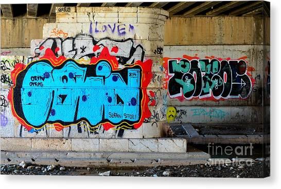 Orin        ' Graffiti ' Canvas Print by Urban Artful
