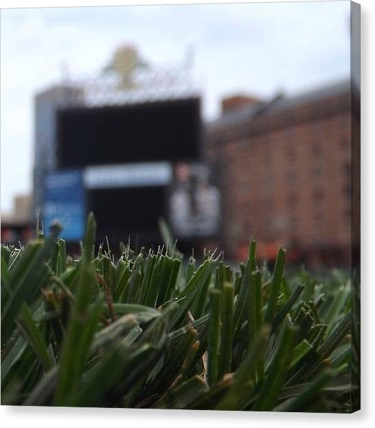 Orioles Canvas Print - #orioles #opacy #warehouse #baltimore by Pete Michaud