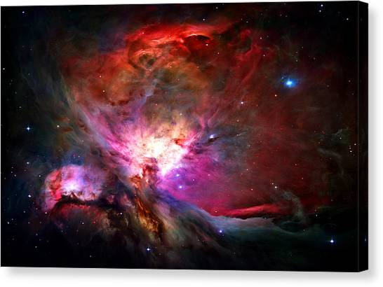 Science Canvas Print - Orion Nebula by Michael Tompsett