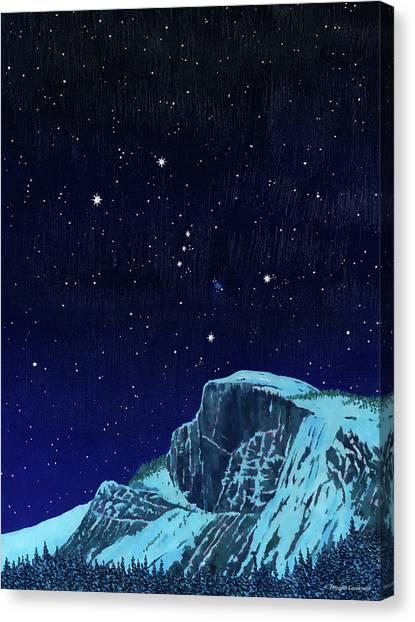 Orion Over Yosemite Canvas Print
