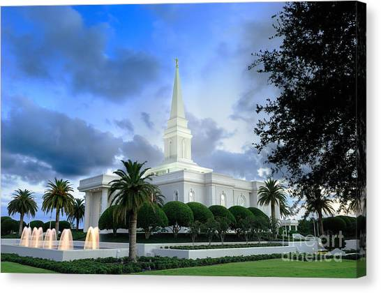 Orlando Lds Temple Canvas Print