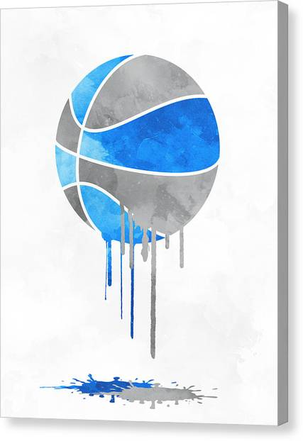 Orlando Magic Canvas Print - Orlando Magic Dripping Water Colors Pixel Art by Joe Hamilton