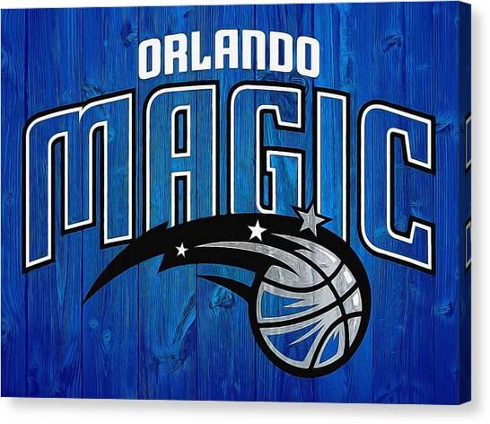 Orlando Magic Canvas Print - Orlando Magic Graphic Barn Door by Dan Sproul