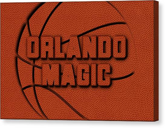 Orlando Magic Canvas Print - Orlando Magic Leather Art by Joe Hamilton