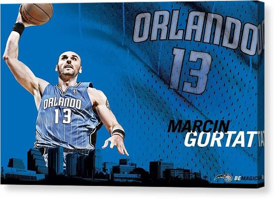 Orlando Magic Canvas Print - Orlando Magic by Super Lovely